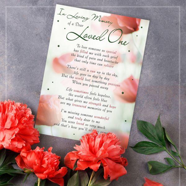Memorial Graveside Card Loved One