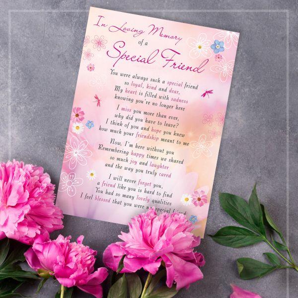 Memorial Graveside Card Friend