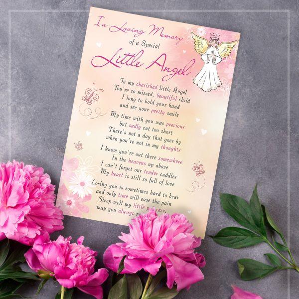 Memorial Graveside Card Little Angel