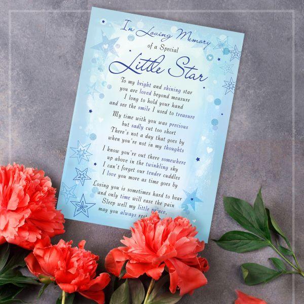 Memorial Graveside Card Little Star