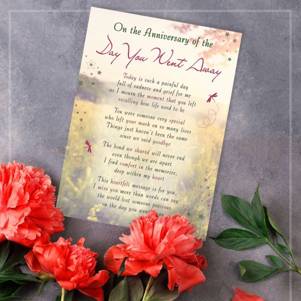Memorial Graveside Card The Day You Went Away