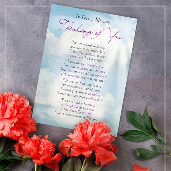 Memorial Graveside Card Thinking Of You