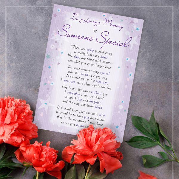 Memorial Graveside Card Someone Special