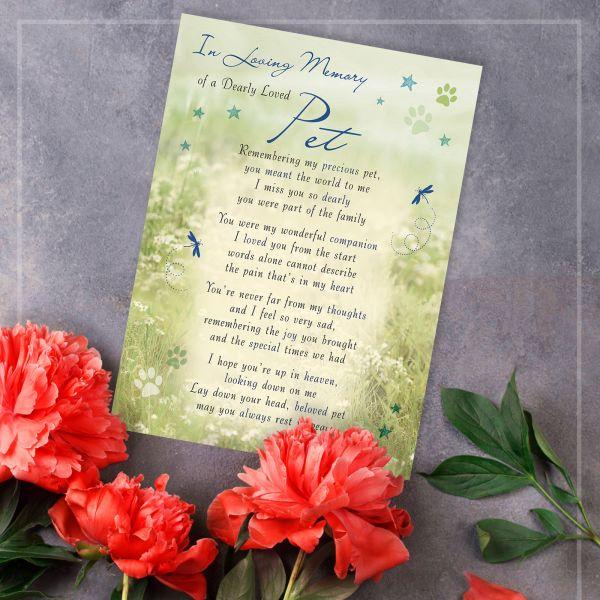 Memorial Graveside Card Pet