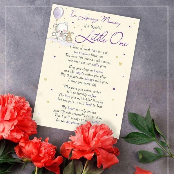 Memorial Graveside Card Little One