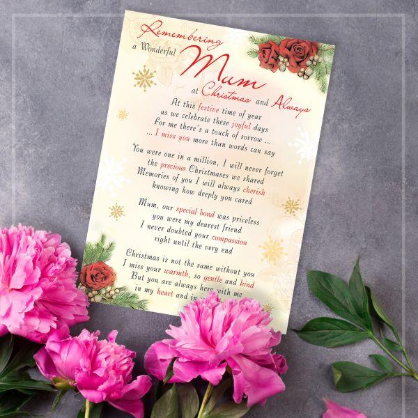 Christmas Memorial Graveside Card Mum
