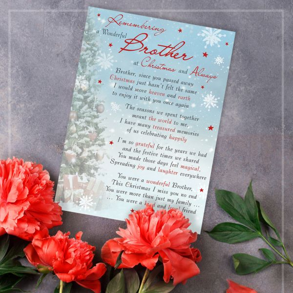 Christmas Memorial Graveside Card Brother
