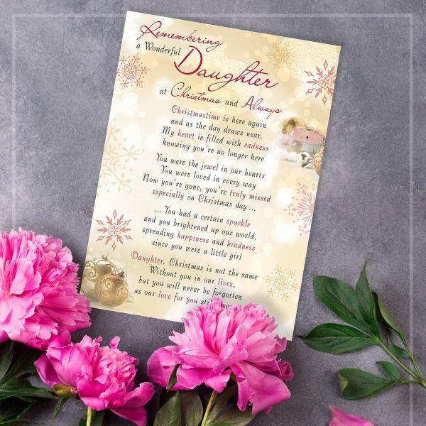 Christmas Memorial Graveside Card Daughter