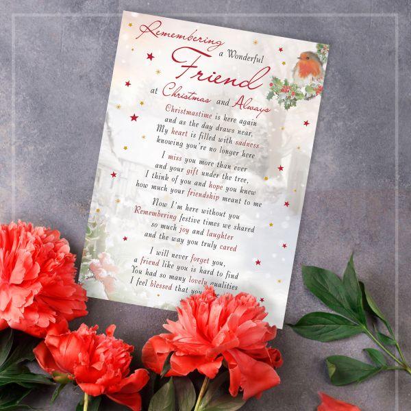 Christmas Memorial Graveside Card Friend