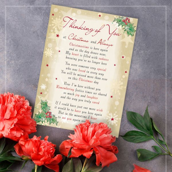 Christmas Memorial Graveside Card Thinking of you