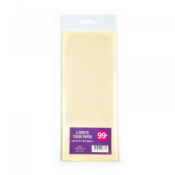 6 Sheets Tissue Paper Cream