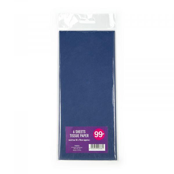 6 Sheets Tissue Dark Blue