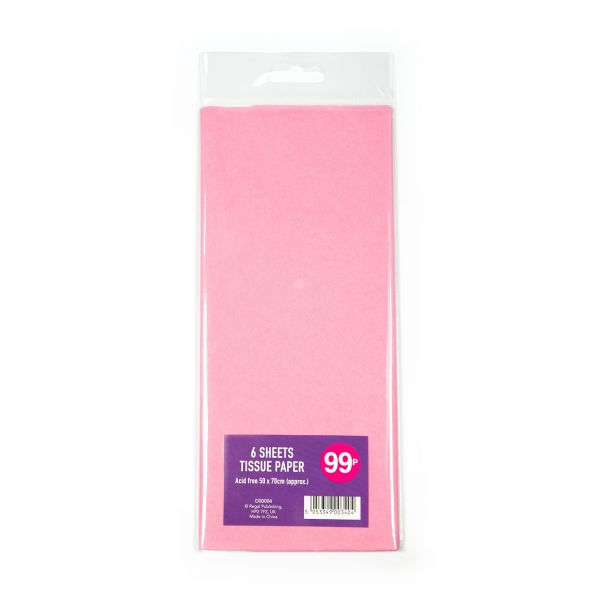 6 Sheets Tissue Paper Baby Pink