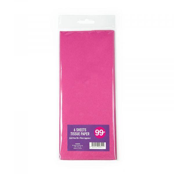 6 Sheets Tissue Paper Fuchsia