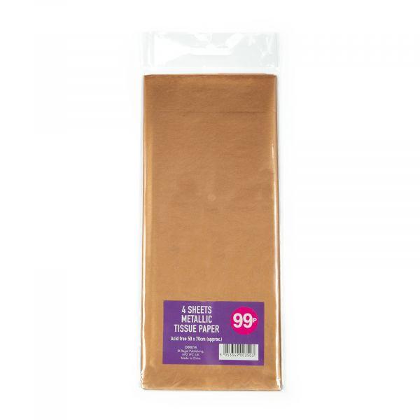 4 Sheets Met Tissue Paper Rose Gold