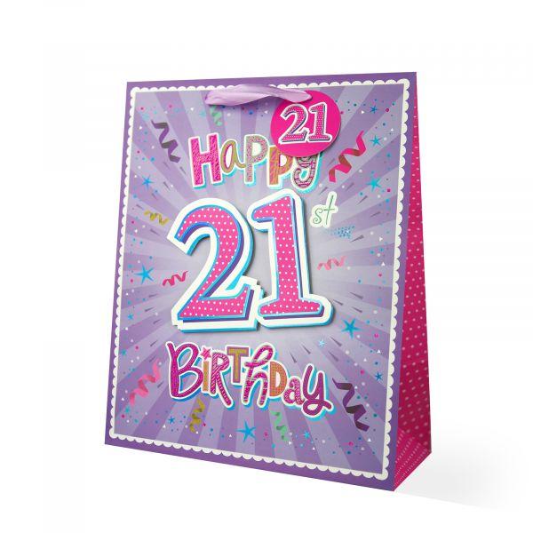Age 21 Female Large Gift Bag