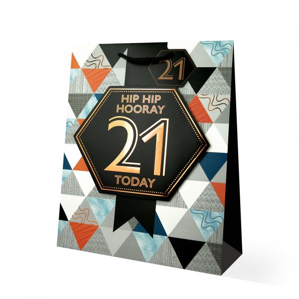 Age 21 Male Large Gift Bag