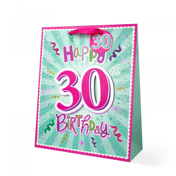 Age 30 Female Large Gift Bag