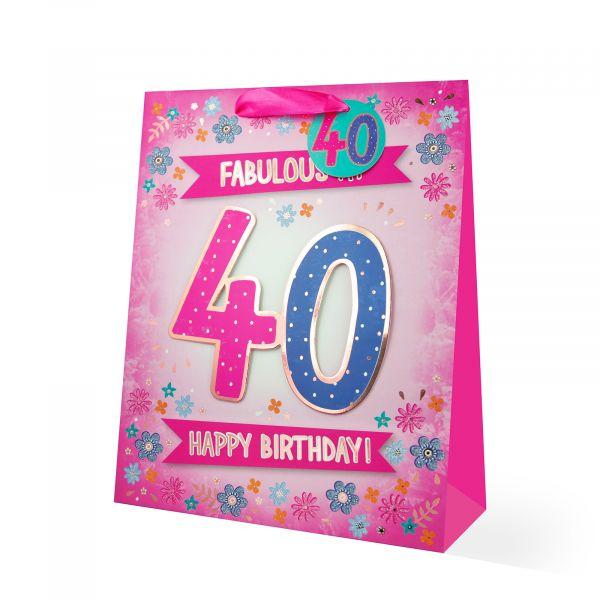 Age 40 Female Large Gift Bag