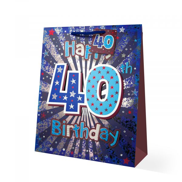 Age 40 Male Large Gift Bag