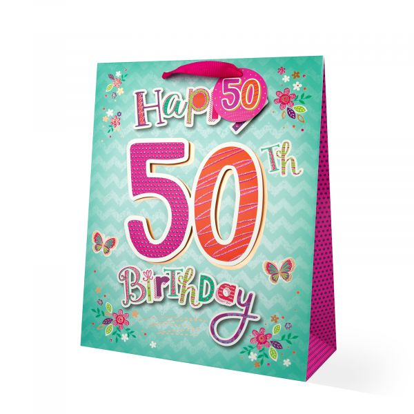 Age 50 Female Large Gift Bag