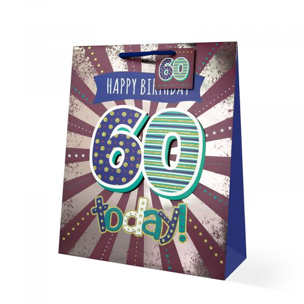 Age 60 Male Large Gift Bag