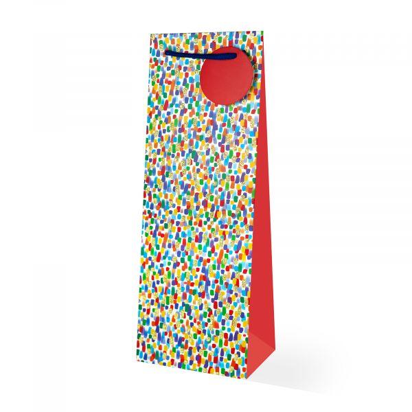 Multi Coloured Bottle Gift Bag
