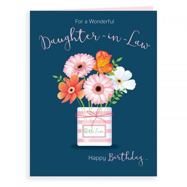 Birthday Card Daughter In Law, Vase