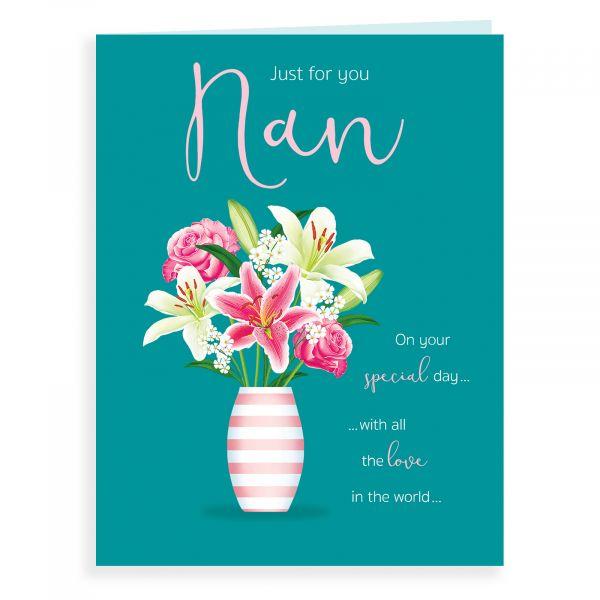 Birthday Card Nan, Vase