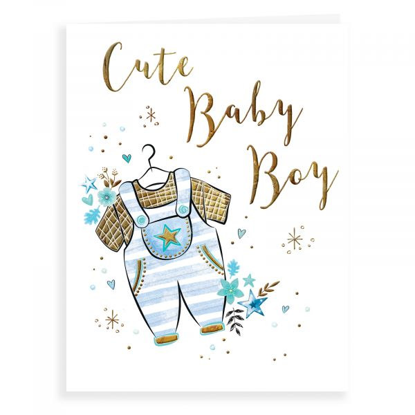 Baby Card Baby Boy, Dungarees
