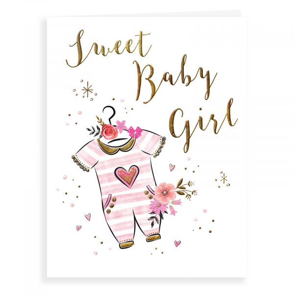 Baby Card Baby Girl, Baby Grow