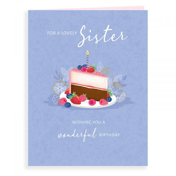 Birthday Card Sister, Cake Slice