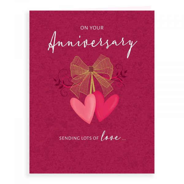 Anniversary Card Your, Bow & Hearts