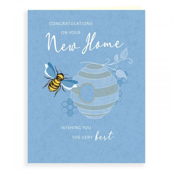 New Home Card, Bee And Hive