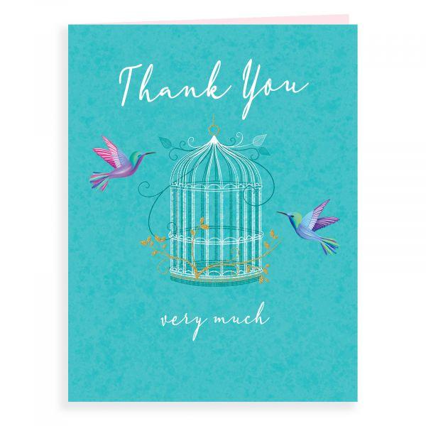 Thank You Card, Bird Cage