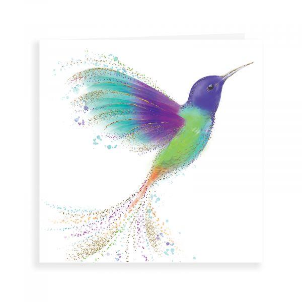 Blank Card, Hummingbird