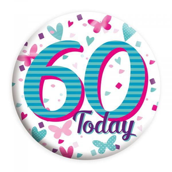 Age 60 Female Small Badge