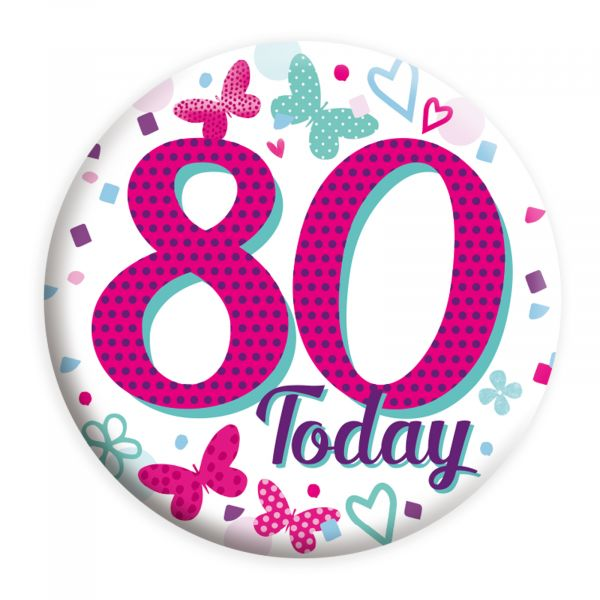 Age 80 Female Small Badge