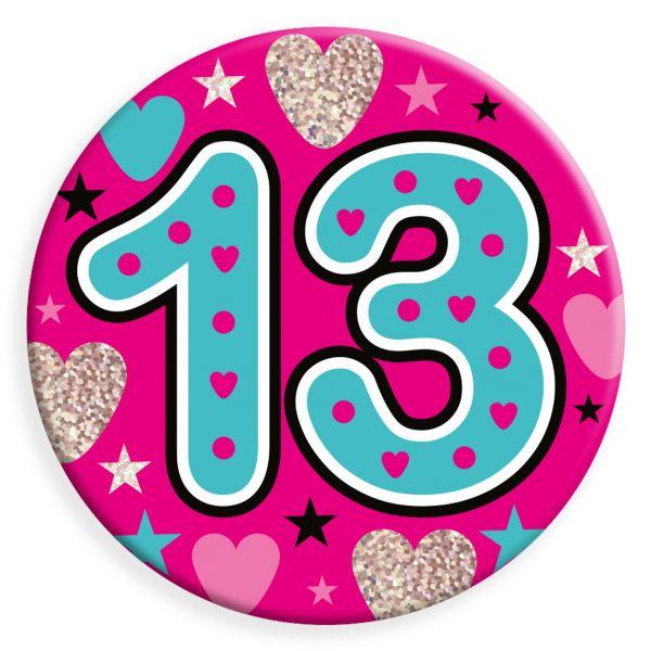 Age 13 Female Jumbo Badge