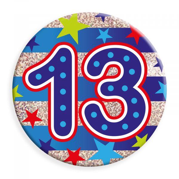 Age 13 Male Jumbo Badge