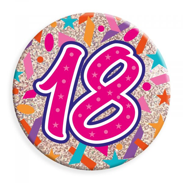 Age 18 Female Jumbo Badge