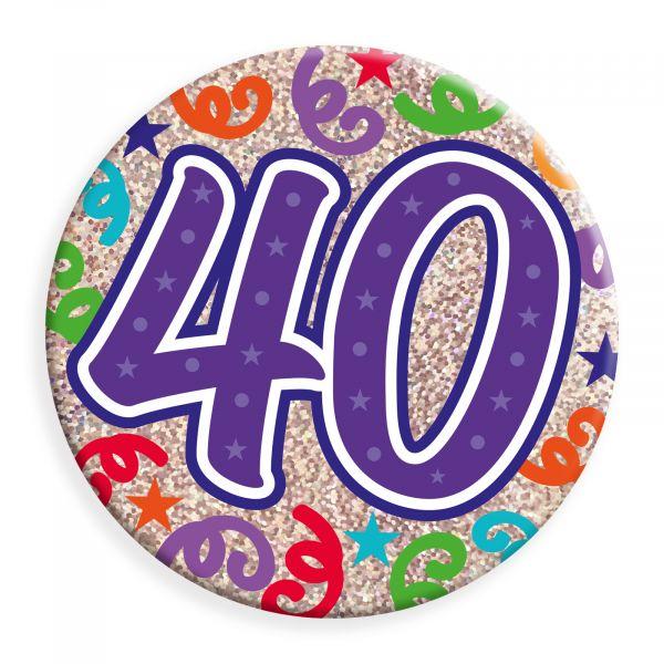 Age 40  Jumbo Badge