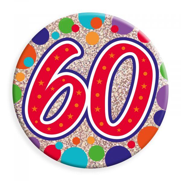 Age 60 Jumbo Badge
