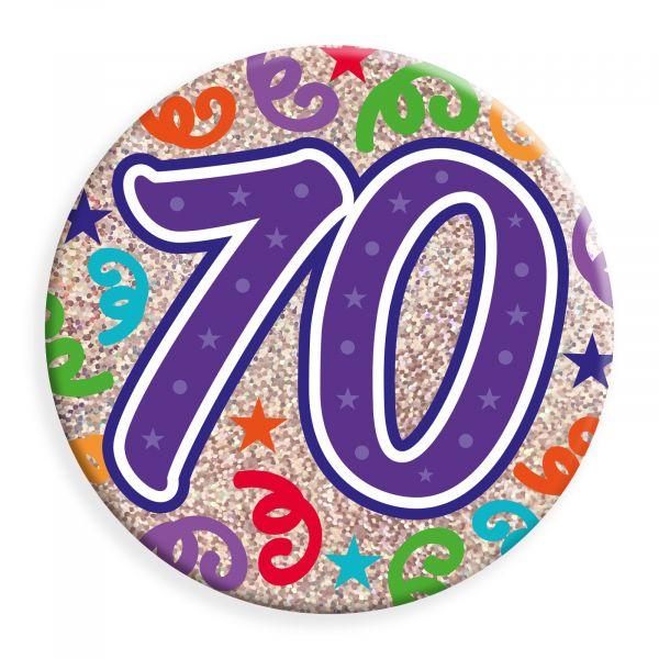 Age 70 Jumbo Badge