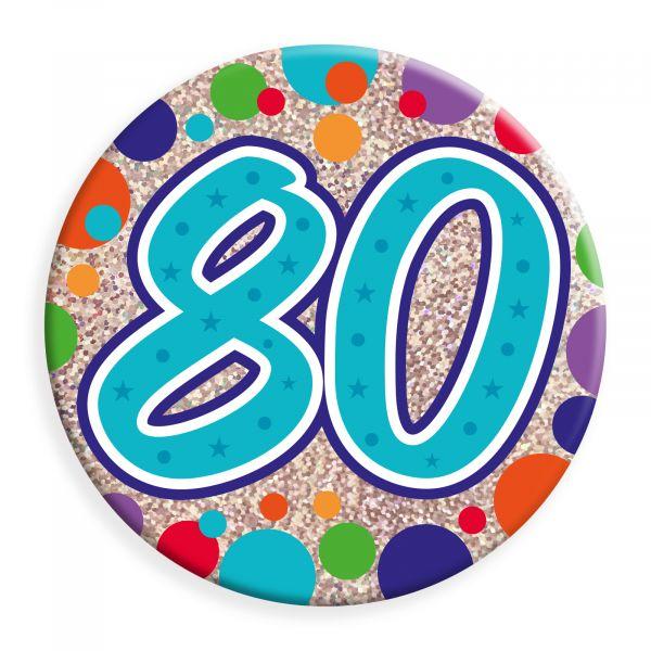 Age 80 Jumbo Badge