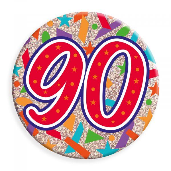 Age 90 Jumbo Badge
