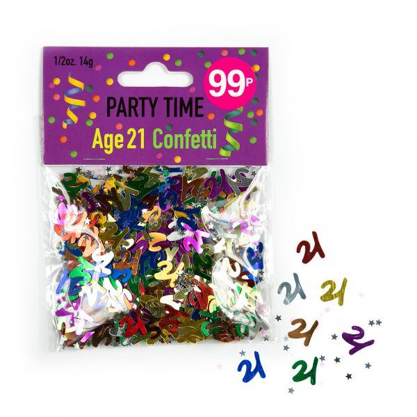 Confetti Age 21