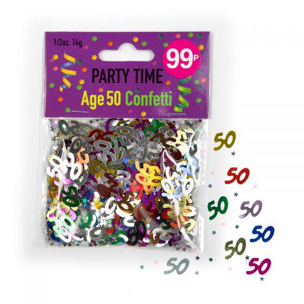 Confetti Age 50