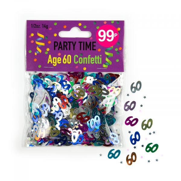 Confetti Age 60