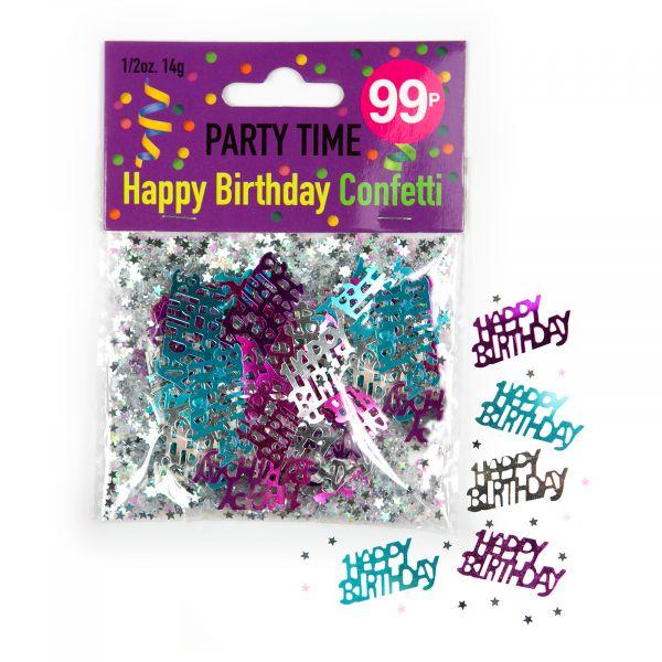 Confetti Happy Birthday Female